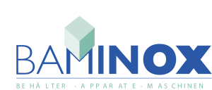 Logo Baminox mit Text 4-farbig
